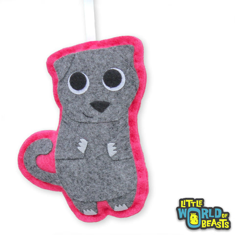 Myrtle the Scottish Fold - Handmade Cat Breed Ornament