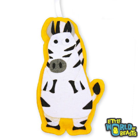Felt Animal Christmas Ornament - Zebra - Little World of Beasts