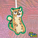 Cheetah - Personalizable - Handmade Felt Animal Ornament