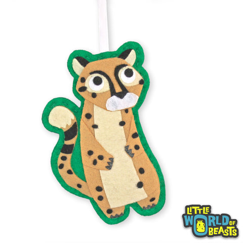 Cheetah - Personalizable - Felt Christmas Ornament