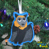 Felt Christmas Ornament - Flying Fox - Little World of Beasts