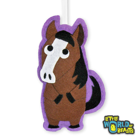 Graham the Horse - Felt Christmas Ornament - Little World of Beasts