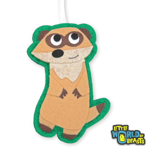 Meerkat - Handmade Felt Animal Ornament - Little World of Beasts