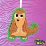Customizable Handmade Felt Christmas Ornament - Pangolin