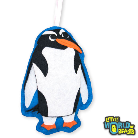 Customizable - Felt Christmas Ornament - Gentoo Penguin