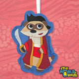 Pirate Captain Meerkat - Felt Christmas Ornament