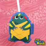Customizable Handmade Christmas Ornament - Slider Turtle