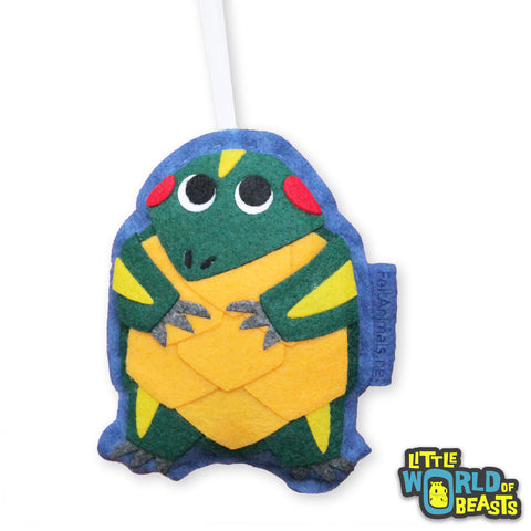 Customizable Felt Christmas Ornament - Slider Turtle