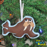Felt Christmas Tree Ornament - Walrus