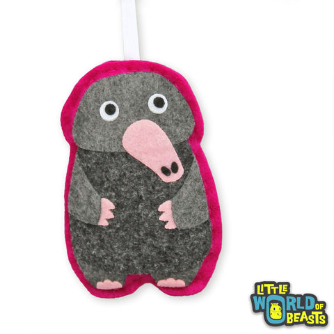 Neville the Mole - Felt Woodland Ornament - Little World of Beasts