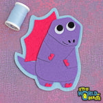 Little World of Beasts - Felt Dinosaur - Patch