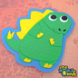 Handmade Felt Dinosaur - Patch - Sew On or Iron On