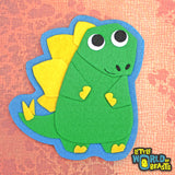 Stegosaurus Felt Dinosaur - Applique - Sew On or Iron On