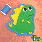 Duncan the Stegosaurus - Felt Applique - Dinosaur - Sew On or Iron On Patch - Little World Of Beasts