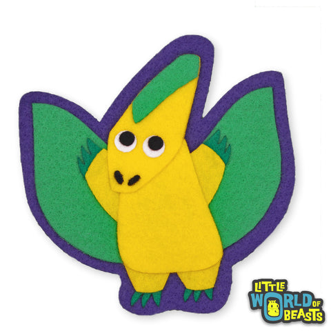 Errol the Pteranodon - Felt Dinosaur Sew On or Iron On Patch