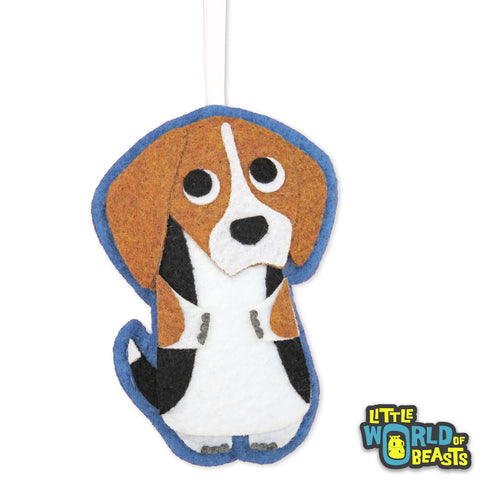 Barclay the Beagle - Handmade Dog Ornament - Little World of Beasts