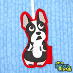 Boston Terrier Felt Animal Christmas Ornament - Personalizable