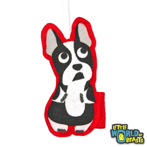 Boston Terrier Customizable Felt Ornament