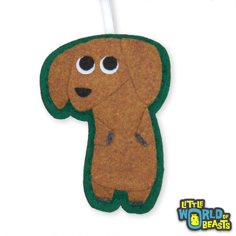 Mitzi the Dachshund - Handmade Felt Dog Ornament - Little World of Beasts