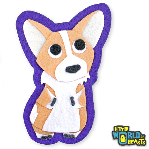 Corgi - Iron On Patch - Sew on Patch - Felt Dog Applique