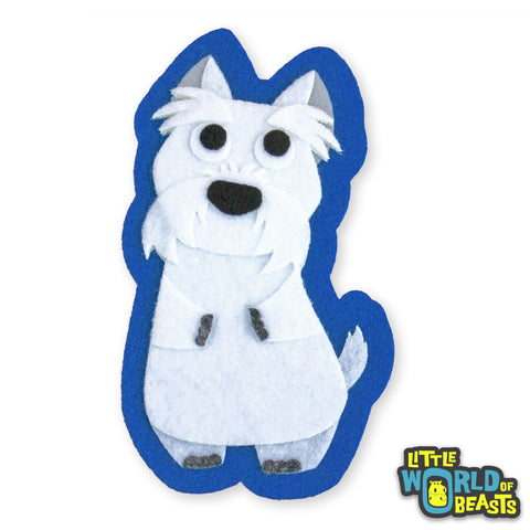 Fred the Westie Patch - Iron On or Sew on - Little World of Beasts