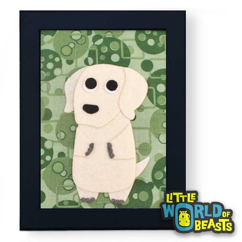 Yellow Lab - Felt Dog Wall Art - Little World of Beasts