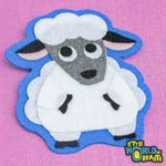 Felt Farm Animal Patch - Sheep