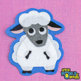 Handmade Felt Farm Animal - Sheep