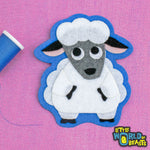 Murray the Sheep Patch - Farm Animal Applique