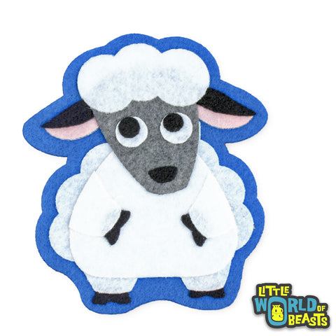 Sheep - Felt Patch - Iron on and Sew On