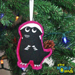 Felt Honey Badger Christmas Ornament