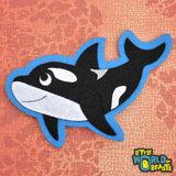 Felt Iron on Patch - Orca - Killer Whale