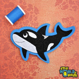 Manny the Orca Patch - Felt Ocean Animal Applique - Sew On or Iron On