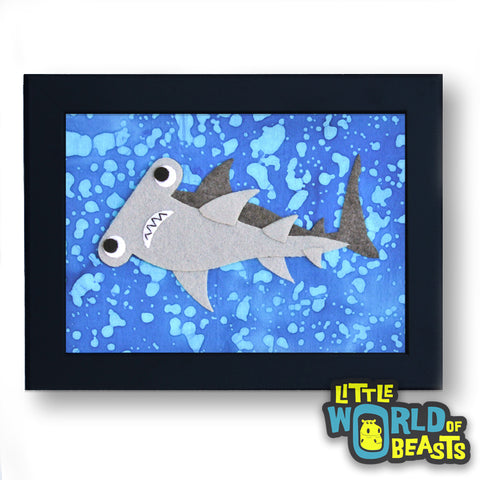 Hammerhead - Felt Animal Kids Decor