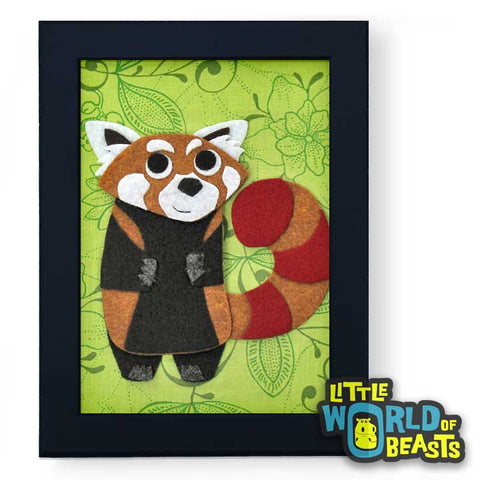 Xelpho the Red Panda Framed Nursery Art
