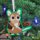 Handmade Felt Christmas Ornament - Elephant Shrew
