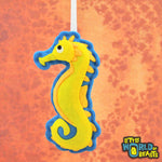 Personalizable Felt Ornament - Sea Horse