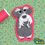 Giles the Schnauzer Patch - Sew On or Iron On Felt Dog Applique