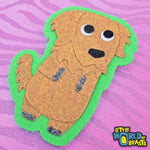 Felt Dog Sew On Patch - The Squshies