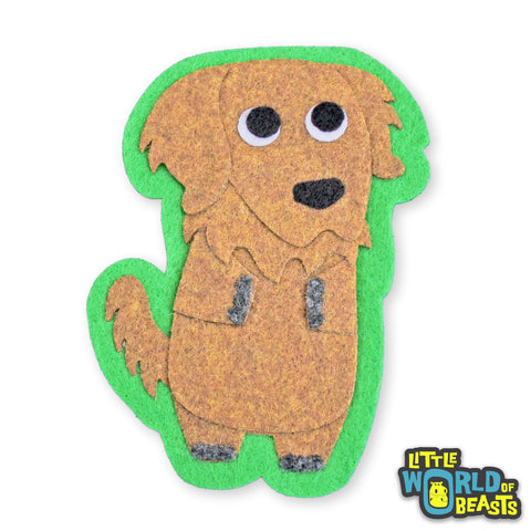 Cinnamon the Golden Retriever Patch - Iron on or Sew on