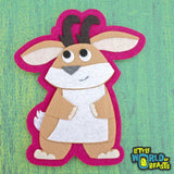 Felt Animal Patch - Jackalope
