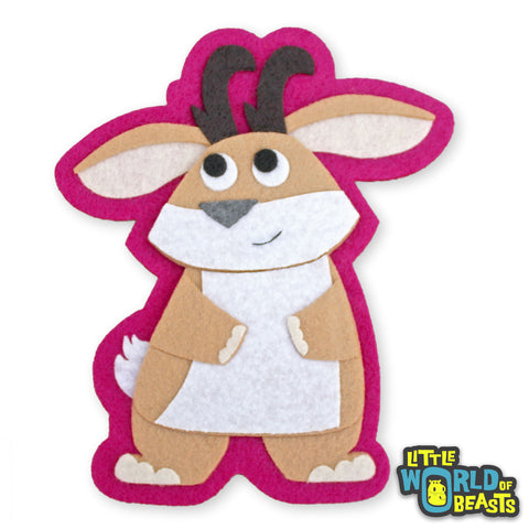 Hilda the Jackalope Patch - Iron On or Sew On -  Little World of Beasts
