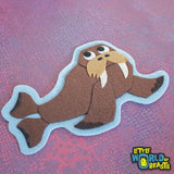Chester the Walrus Iron On or Sew On Patch