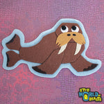 Chester the Walrus Iron On or Sew On Patch - Little World of Beasts