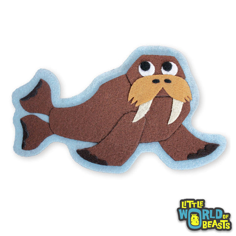 Chester the Walrus Patch - Little World of Beasts - Felt Animals