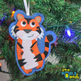 Handmade Felt Tiger Ornament