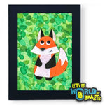 Simon the Fox Woodland Nursery Art - Little World of Beasts