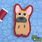 French Bulldog Patch - Iron on or Sew on - Little World of Beasts