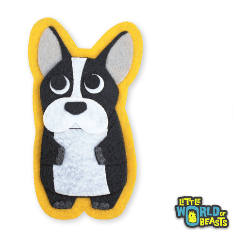 Perry the French Bulldog - Sew On or Iron On Felt Animal Patch