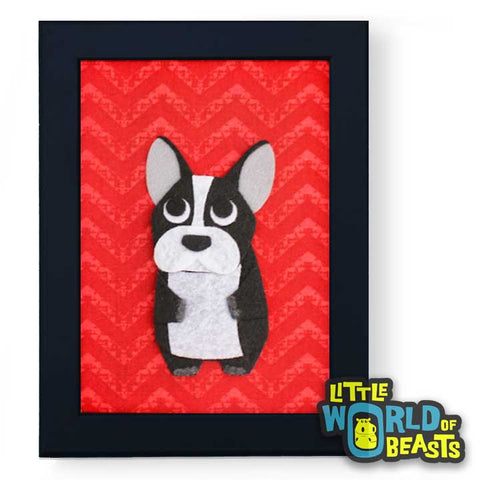 Perry the Frenchie - Framed French Bulldog Art - Little World of Beasts